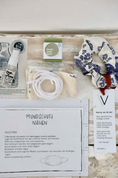 mit vintage recycling stoffen